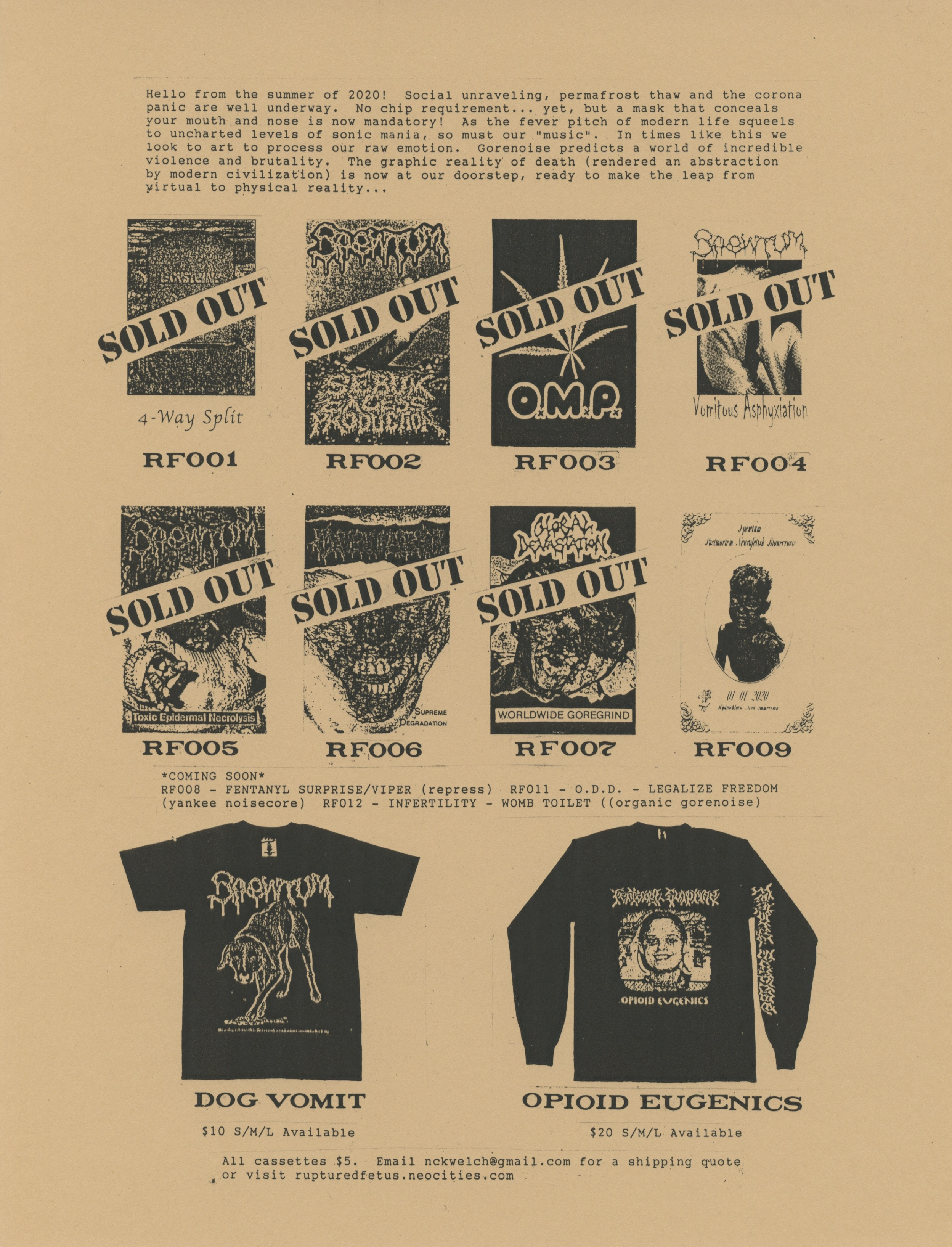 ruptured fetus catalog back
